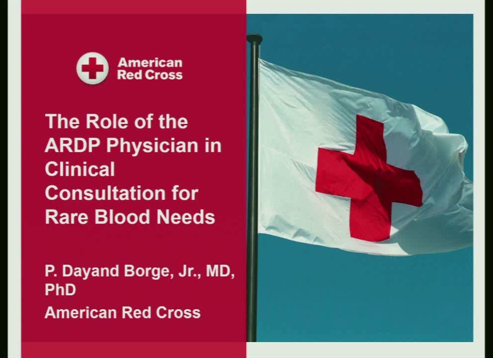 TU1-02: Will Rare Blood be There When Needed? Meeting Exquisitely Rare Blood Requests, One Patient at a Time,American Rare Donor Program and Collaborators