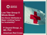 TU3-22: In Search of the Golden Donors: Finding Special Donors for Special Blood Products