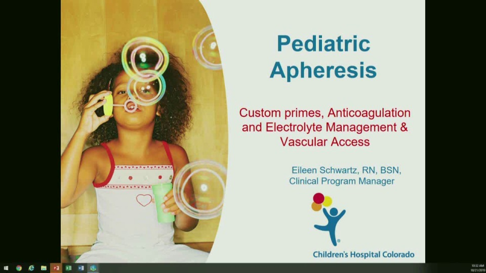 MN2-16: Technical Challenges in Pediatric Apheresis: Priming, Anticoagulation and Electrolyte Replacement