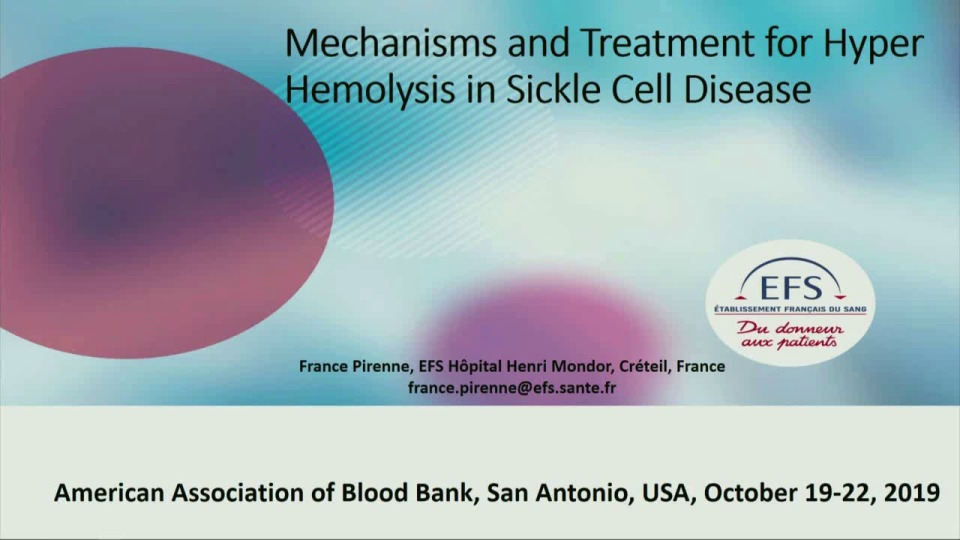 SN4-27: Mechanisms and Treatment for Hyper Hemolysis in Sickle Cell Disease