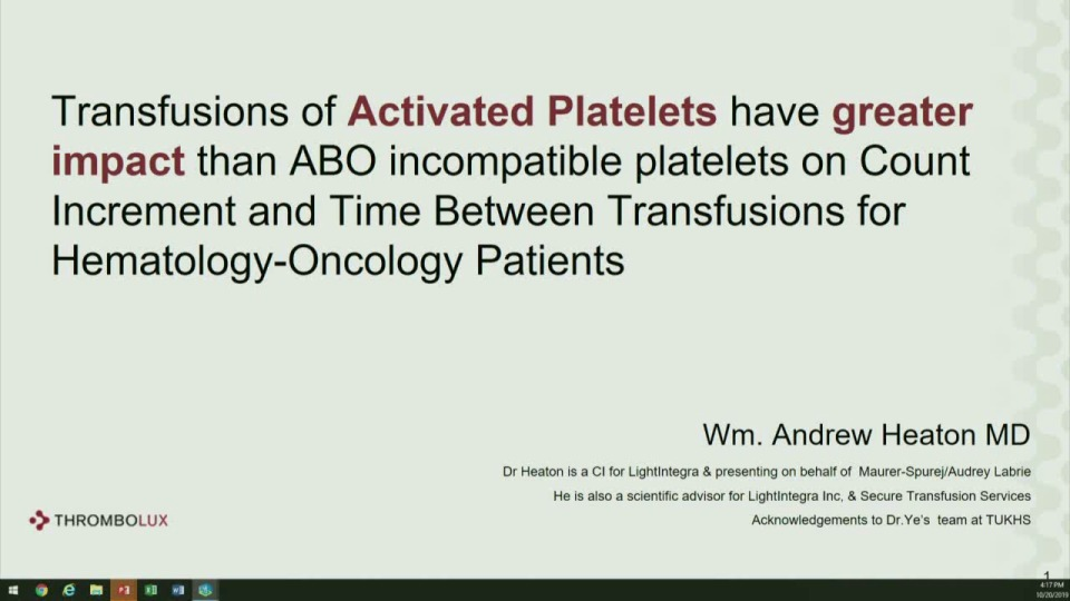 SN5-37: Oral Abstract Session: Blood Component Innovation