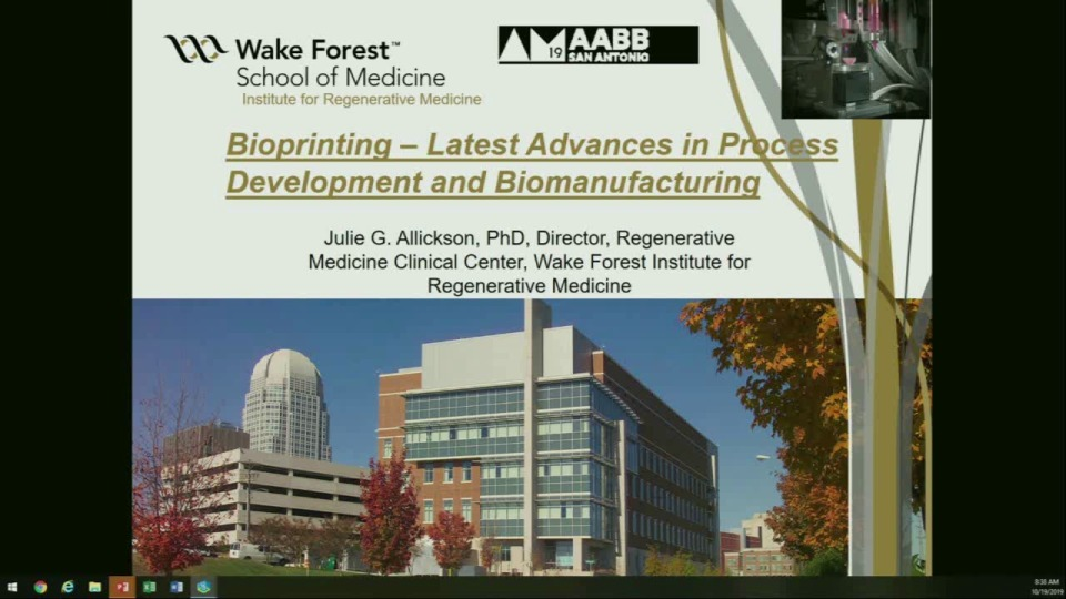 ST1-09: Bioprinting: Translational Pathway to the Clinic (AABB/TERMIS-AM Joint Session)