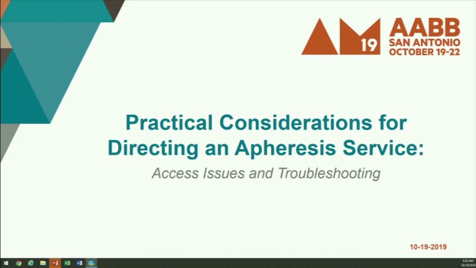 ST1-10: Practical Considerations in Directing an Apheresis Service