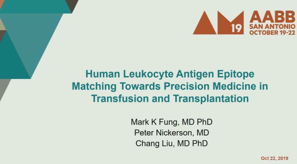 TU1-04: HLA Epitope Matching: Towards Precision Medicine in Transfusion and Transplantation