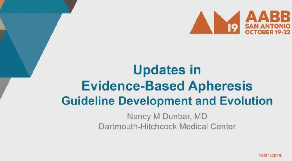 "MN1-09: Evidence-Based Apheresis Treatment Guidelines and ASFA ""Choosing Wisely"" Best Practice Recommendations"