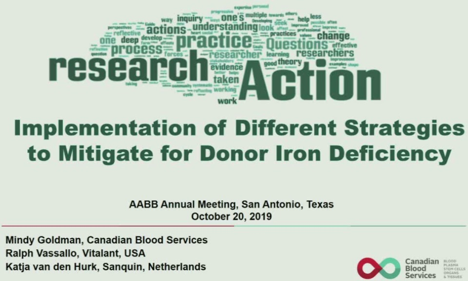 SN1-04: From Research to Action: Implementation of Different Strategies to Mitigate for Donor Iron Deficiency