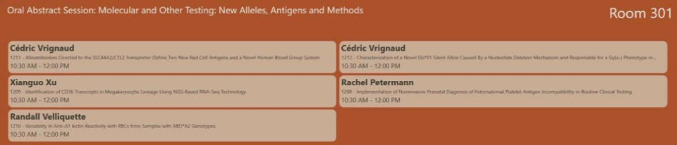 SN2-15: Oral Abstract Session: Molecular and Other Testing: New Alleles, Antigens and Methods