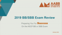 MN1-10: BB/SBB Exam Review: 2019