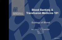 Topic 1: Part I: Ecology of Blood