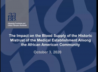 AM20-01: The Impact on the Blood Supply of the Historic Mistrust of the Medical Establishment Among the African American Community