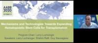 AM20-12: Mechanisms and Technologies Towards Expanding Hematopoietic Stem Cells for Transplantation
