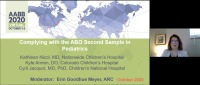 AM20-76: Complying with the ABO Second Sample in Pediatrics