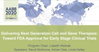 AM20-44: Delivering Next Generation Cell and Gene Therapies: Toward FDA Approval for Early Stage Clinical Trials
