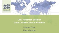 AM20-27: Oral Abstract Session -- Data Driven Clinical Practice