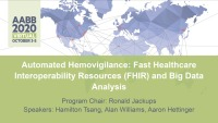 AM20-45: Automated Hemovigilance: Fast Healthcare Interoperability Resources (FHIR) and Big Data Analysis