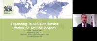 AM20-81: Expanding Transfusion Service Models for Remote Support