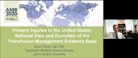 AM20-82: Firearm Injuries in the United States: National Data and Evolution of the Transfusion Management Evidence Base