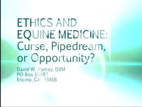 Ethics and Equine Medicine: Curse, Pipedream, or Opportunity?