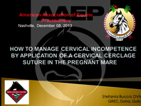 How to Manage Cervical Incompetence by the Application of a Cervical Cerclage Suture in the Pregnant Mare