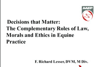 Decisions That Matter: The Complementary Roles of Law, Morals, and Ethics in Equine Practice