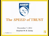 The Business of Practice: Keynote Presentation - The Speed of Trust