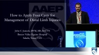 How to Apply Foots Casts For Management of Distal Limb Injuries