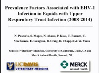 Prevalence Factors Associated With Equine Herpesvirus-1 Infection in Equids With Upper Respiratory Tract Infection From 2008 to 2014