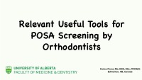 Relevant Useful Tools for Screening for SDB