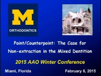 Point/Counterpoint: The Case for Non-extraction in the Mixed Dentition