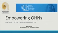 Empowering OHN's Through the Use of Big Data Analytics