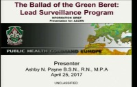 The Ballad of the Green Beret......Lead Surveillance Program