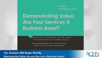 Demonstrating Value: Are your Services a Business Asset?