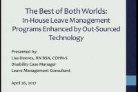 The Best of Both Worlds: In-House Leave Management Programs Enhanced by Out-Sourced Technology