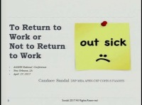 To Return to Work or Not to Return to Work