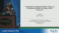 Navigating Psychological Health at Work: An Occupational Health Psychology Perspective