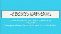 Engaging Excellence Through Certification