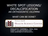 2012 Joint AAO-AAPD Conference - White Spot Lesions  An Orthodontic Dilemma:  What Can be Done?/The Role of Orthodontics in the Prevention and Management of Dental Trauma