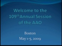 2009 Annual Session - Live Clinical Procedure: TAD Placement