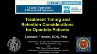 2018 AAO Annual Session - Treatment Timing and Retention Considerations for Openbite Patients