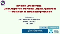 2018 AAO Annual Session - Invisible Orthodontic Appliances: Clear Aligner vs. Individual Lingual System