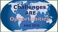 2018 AAO Annual Session - John Valentine Mershon Award Lecture - Challenges ARE Opportunities