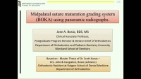 2018 AAO Annual Session - New Midpalatal Suture Maturation Grading System Using Panoramic Radiographs