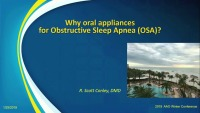 2019 Winter Conference - Managing OSA with Oral Appliances: An Overview