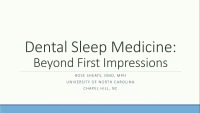 2019 Winter Conference - Dental Sleep Medicine: Beyond First Impressions