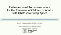 2019 Winter Conference - Evidence-based Recommendations for the Treatment of Children or Adults with Obstructive Sleep Apnea