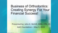 2020 AAO Annual Session - Create the Synergy for Your Financial Success