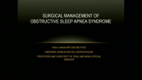Heads or Tails:  Oral Appliance or Maxillomandibular Advancement for Obstructive Sleep Apnea
