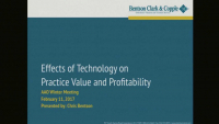 Effects of Technology on Practice Value and Profitability