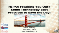 HIPAA Freaking You Out? Some Technology Best Practices to Save the Day! icon
