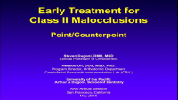 Point: Early Correction of Class II Malocclusions – Is it Effective?